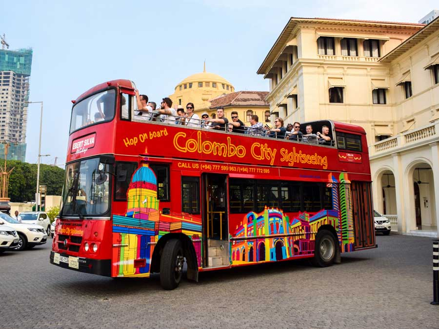 Colombo City Tour by Open High Decker Bus